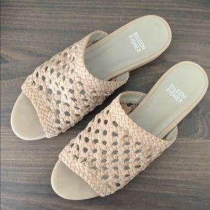 Eileen Fisher Taupe Slip On Sandals